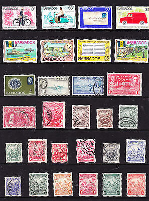 Barbados stamps - 41 MUH, MH & Used