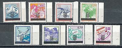 """Croatia, 1991, local issue """"Zagreb"""", MNH set of 8 ovpt stamps"""