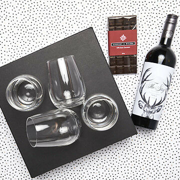 New red wine and chocolate gift set