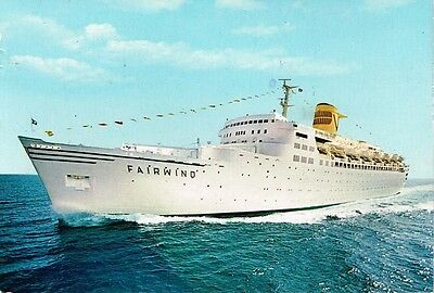 1978 S.S. Fairwind Barbados postcard to USA
