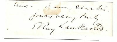 Sir E. Ray Lankester - zoologist -  Director Natural History Museum - orig. sig.
