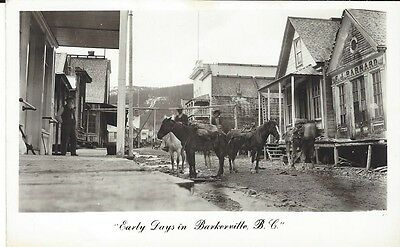Early Days in Barkerville,BC post card