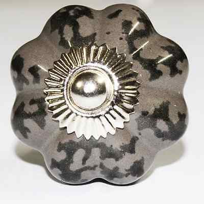 Ceramic Cabinet Knobs With Dark Gray Color Set of 5,10,15,20 Pcs Drawer knobs
