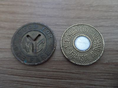 Collection of 2 Different New York City Transit Authority Tokens
