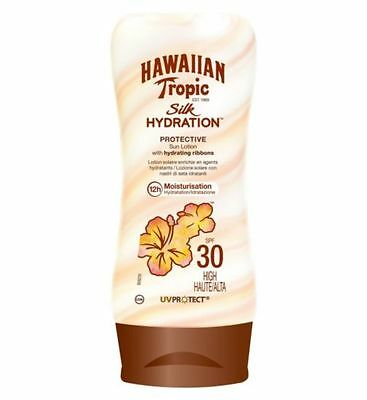 Hawaiian Tropic Silk Hydration Sun Lotion SPF 30 High 180 ml / Brand New