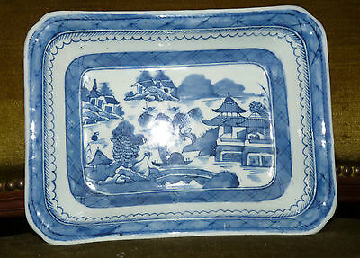 CHINESE 18th Century  - WILLOW PATTERN - Blue and White Victorian Plate.