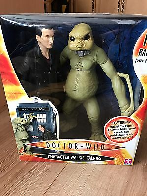 "Doctor Who 12"" 9Th And Slitheen Figures Character Walkie Talkies New Sealed Rare"