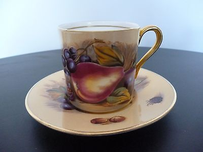aynsley orchard gold coffee cup and saucer