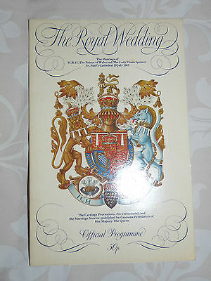 Commemorative Programme - Prince Charles & Lady Diana Spencer Wedding 1981