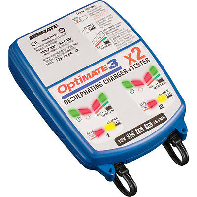 TecMate OptiMate 3 x2 Twin Battery Optimiser Charger (SAE)