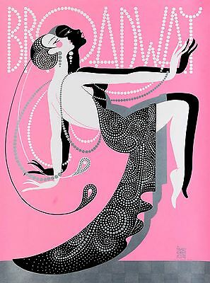 New York City Broadway Theater United States Vintage Travel Advertisement Poster