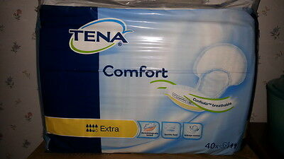 tena comfort extra incontinence pads pack of 40