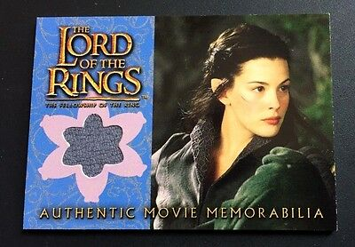 LORD OF THE RINGS Topps 2002 Fellowship MEMORABILIA Card ARWEN'S RIDING OUTFIT