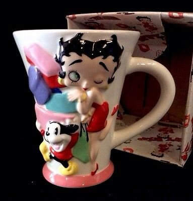 Betty Boop 3D Ceramic Mug Pudgy & Bimbo Girls Just Want To Have Funds Vandor NIB