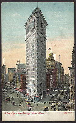 USA. New York. Flat Iron Building, New York. Vintage Postcard
