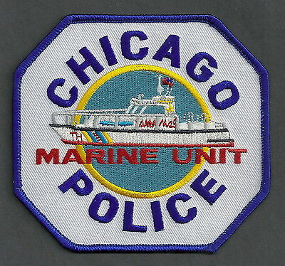 Chicago Illinois Police Marine Unit Patch