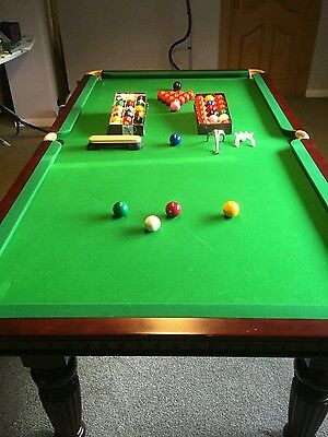 7ft 6 x 4ft  SNOOKER BILLIARD TABLE COST OVER £1000