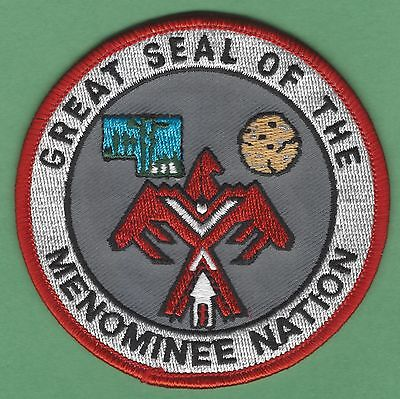 Menomonee Nation Wisconsin Tribal Seal Patch