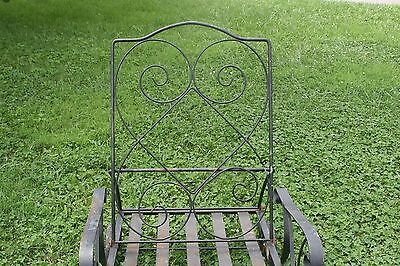 Vintage Lawn Chair Wrought Iron Garden