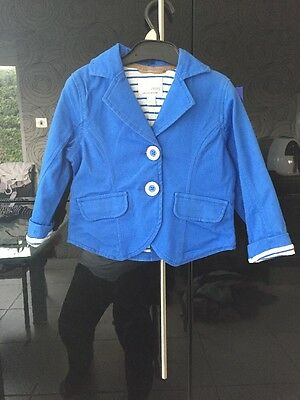 Lovely Blue Double Layered Jacket Brand New Never Been Worn From Next Age 3-4