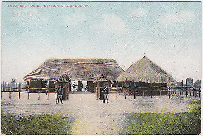 South Sudan - Sudanese Police station at Gondokoro - with stamp 1908