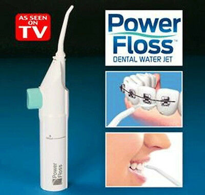 New Portable Power Floss,Water Flosser Manual Oral Irrigator,FREE From Batteries