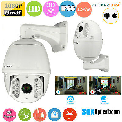Fhd 1080P 30X Zoom 2Mp Ptz Telecamera Onvif Ip Camera Dome Impermeabile Esterno