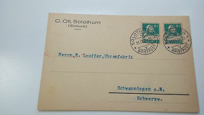Switzerland Helvetia Cover 1929 ... Check Other Swiss Post Letter Card Items