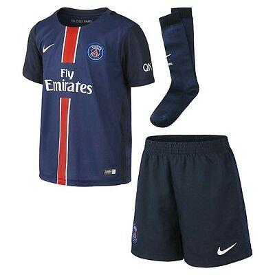 Nike Paris Saint Germain 2015/16 Home Kit Shirt Shorts Socks Kids #658720-411