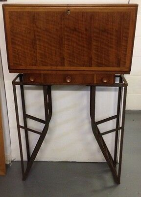 Fantastic 1960s 50s Vintage Bureau With Industrial Large Legs.