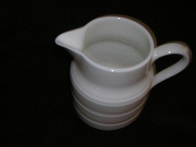 """Vtg English Ironstone""""lord Nelson Pottery""""white Ringed Pitcher Vgc"""