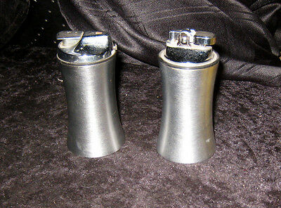 Classic 1960's Brushed Stainless Steel Table Lighters.