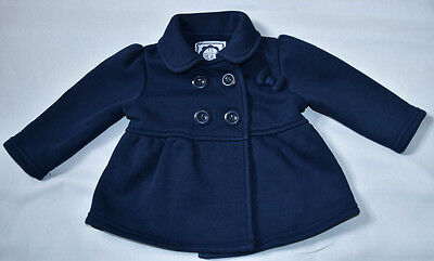 Early Days Baby Coat Girls's clothing/ Blue with bow 3-6 Months 68 cm