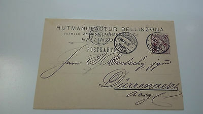 Switzerland Cover 1895 Bellizona Check Other Swiss Post Letter Card Items