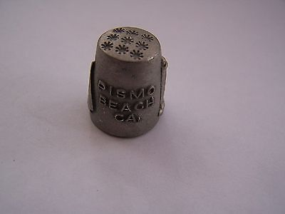 Pismo Beach, Usa, Thimble, Pewter, Lighthouse, Boats, Vintage