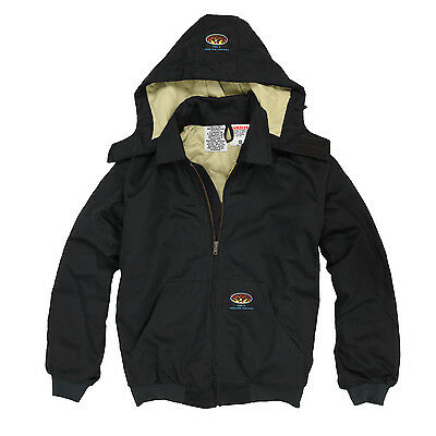 Rasco FR Black Duck Quilted Hooded Jacket