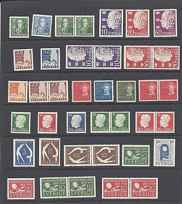 Sweden Years 1947-1949 MNH With Pairs