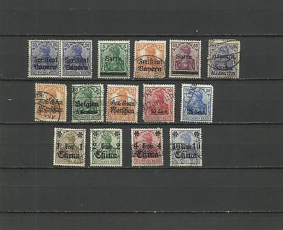 German Reich, Germania, with overprints including China, used and mounted mint