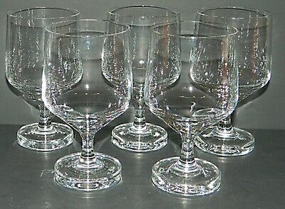 Rosenthal Crystal VARIATION - 5 Red Wine Glasses - 5 1/4""