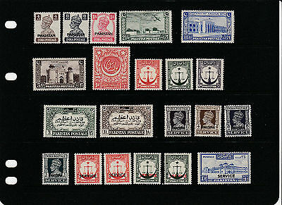 PAKISTAN,small collection,KGVI incl.officals , values to 1R. MINT LM