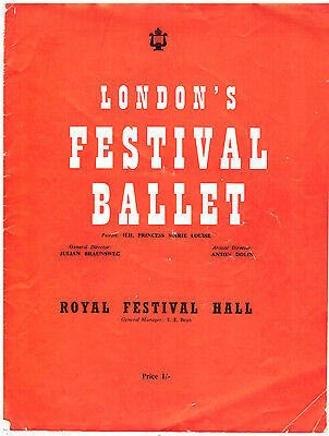 Ballet Programmes small collection 1946-87 collectable