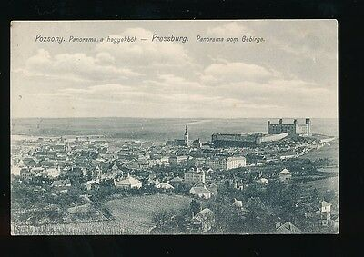 Hungary POZSONY General view 1912 PPC