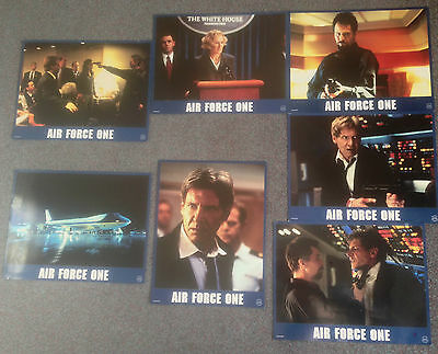 LOT OF 7 ORIGINAL LOBBY CARDS AIR FORCE ONE Harrison Ford