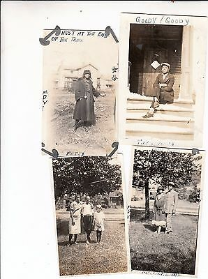 4 AWESOME Vintage PHOTOS/ Black African American MEN WOMEN CHILD/Suit Tie Hats