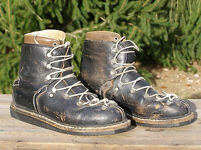 Vintage Leather Cross Country Ski Boots Made in Western Germany