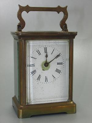 ANTIQUE FRENCH CARRIAGE CLOCK 8 day neglected and dirty  restoration