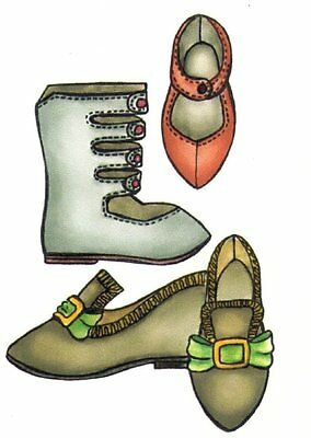 Sewing pattern fashion MSD DS  BJD  DOLL  Shoe & Boot  9 different sizes 1564