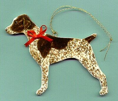 GERMAN SHORTHAIRED POINTER Wooden Dog ORNAMENT - Hand Crafted  !