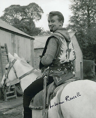 William Russell In Person Signed Photo - B292 - The Adventures of Sir Lancelot