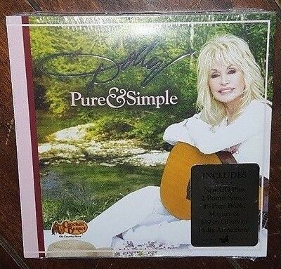 Pure & Simple by Dolly Parton (CD, 2016, RCA) 2 Bonus songs/48-Page Book/Magnet!